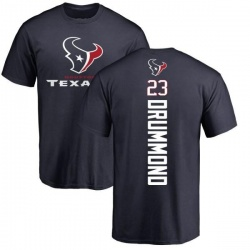 Men's Kurtis Drummond Houston Texans Backer T-Shirt - Navy