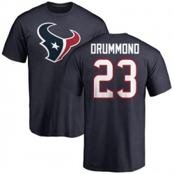 Men's Kurtis Drummond Houston Texans Name & Number Logo T-Shirt - Navy