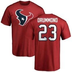 Men's Kurtis Drummond Houston Texans Name & Number Logo T-Shirt - Red