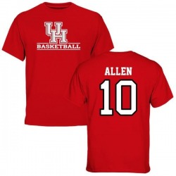 Men's Kyle Allen Houston Cougars Basketball T-Shirt - Red