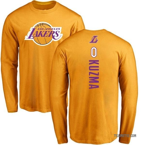 super popular 8789d cbadc Men's Kyle Kuzma Los Angeles Lakers Gold Backer Long Sleeve T-Shirt - Teams  Tee