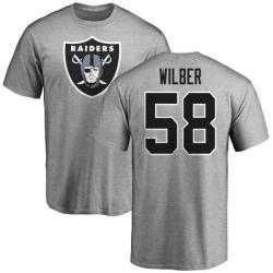 Men's Kyle Wilber Oakland Raiders Name & Number Logo T-Shirt - Ash