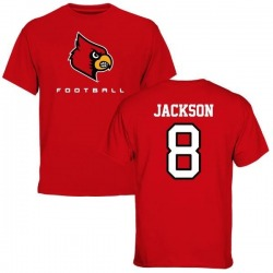 Men's Lamar Jackson Louisville Cardinals Football T-Shirt - Red