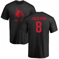 Men's Lamar Jackson Louisville Cardinals One Color T-Shirt - Black
