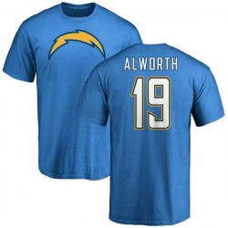Men's Lance Alworth Los Angeles Chargers Name & Number T-Shirt - Blue