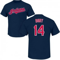 Men's Larry Doby Cleveland Indians Roster Name & Number T-Shirt - Navy