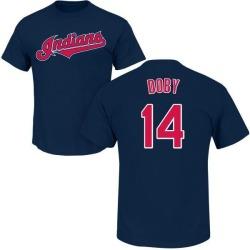 Men's Larry Doby Cleveland Indians Roster Name & Number T-Shirt - Navy