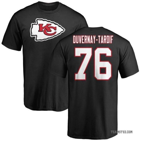 sports shoes f3d27 d1c03 Men's Laurent Duvernay-Tardif Kansas City Chiefs Name & Number Logo T-Shirt  - Black