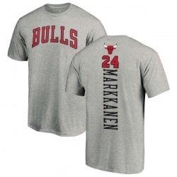 Men's Lauri Markkanen Chicago Bulls Ash Backer T-Shirt