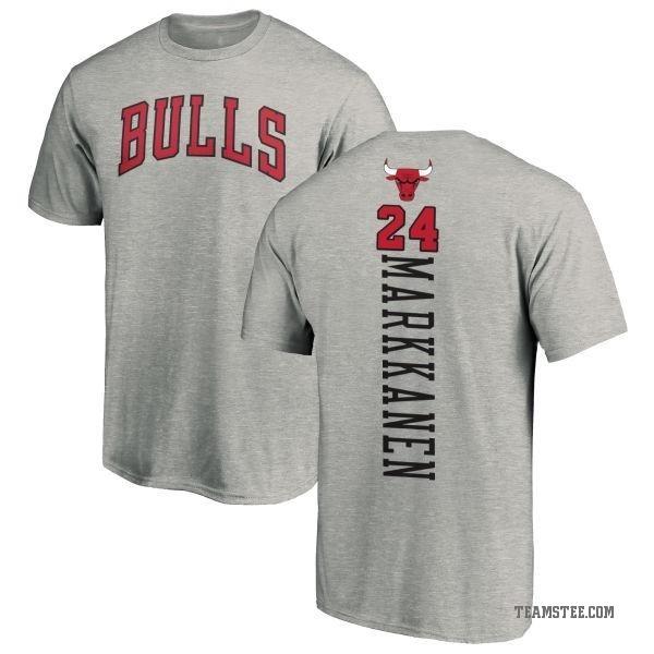 low priced 961bb 6c490 Men's Lauri Markkanen Chicago Bulls Ash Backer T-Shirt - Teams Tee