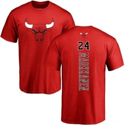 Men's Lauri Markkanen Chicago Bulls Red Backer T-Shirt