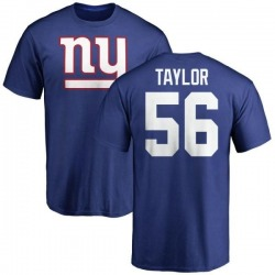 Men's Lawrence Taylor New York Giants Name & Number Logo T-Shirt - Royal