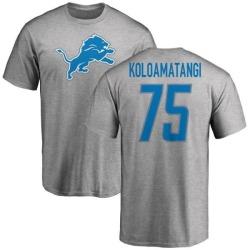 Men's Leo Koloamatangi Detroit Lions Name & Number Logo T-Shirt - Ash