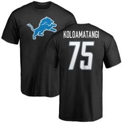 Men's Leo Koloamatangi Detroit Lions Name & Number Logo T-Shirt - Black