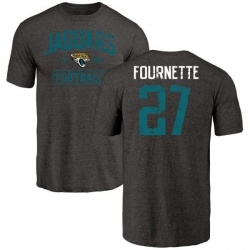 Men's Leonard Fournette Jacksonville Jaguars Black Distressed Name & Number Tri-Blend T-Shirt