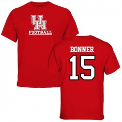 Men's Linell Bonner Houston Cougars Football T-Shirt - Red