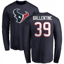 Men's Lonnie Ballentine Houston Texans Name & Number Logo Long Sleeve T-Shirt - Navy