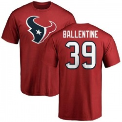 Men's Lonnie Ballentine Houston Texans Name & Number Logo T-Shirt - Red