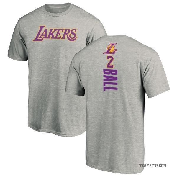 buy popular 1501f ca20f Men's Lonzo Ball Los Angeles Lakers Ash Backer T-Shirt - Teams Tee
