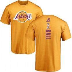 Men's Lonzo Ball Los Angeles Lakers Gold Backer T-Shirt