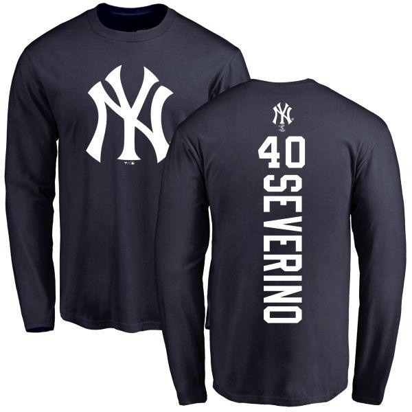 best service 5f406 e4ac7 Men's Luis Severino New York Yankees Backer Long Sleeve T-Shirt - Navy -  Teams Tee