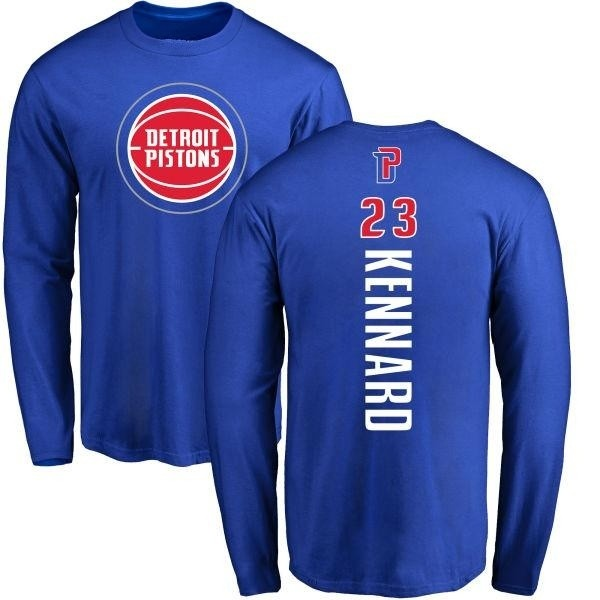 classic fit f49c4 5b587 Men's Luke Kennard Detroit Pistons Royal Backer Long Sleeve T-Shirt - Teams  Tee