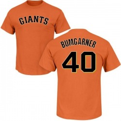 Men's Madison Bumgarner San Francisco Giants Roster Name & Number T-Shirt - Orange