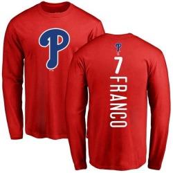 Men's Maikel Franco Philadelphia Phillies Backer Long Sleeve T-Shirt - Red