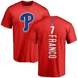Men's Maikel Franco Philadelphia Phillies Backer T-Shirt - Red