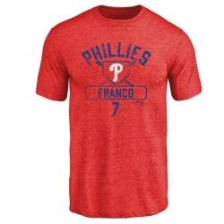 Men's Maikel Franco Philadelphia Phillies Base Runner Tri-Blend T-Shirt - Red