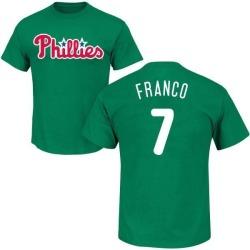 Men's Maikel Franco Philadelphia Phillies St. Patrick's Day Roster Name & Number T-Shirt - Green