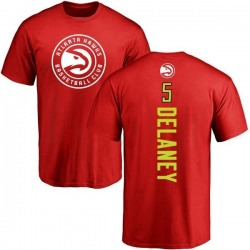Men's Malcolm Delaney Atlanta Hawks Red Backer T-Shirt