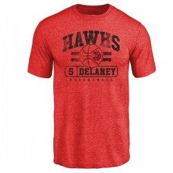 Men's Malcolm Delaney Atlanta Hawks Red Baseline Tri-Blend T-Shirt