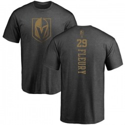 Men's Marc-Andre Fleury Vegas Golden Knights Charcoal One Color Backer T-Shirt