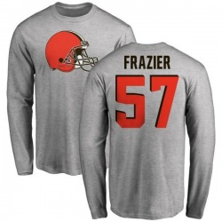 Men's Marcell Frazier Cleveland Browns Name & Number Logo Long Sleeve T-Shirt - Ash