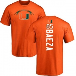 Men's Marco Baeza Miami Hurricanes Football Backer T-Shirt - Orange
