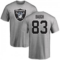 Men's Marcus Baugh Oakland Raiders Name & Number Logo T-Shirt - Ash