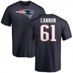 Men's Marcus Cannon New England Patriots Name & Number Logo T-Shirt - Navy