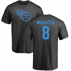 Men's Marcus Mariota Tennessee Titans One Color T-Shirt - Ash