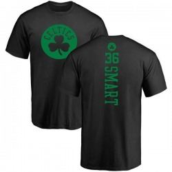 Men's Marcus Smart Boston Celtics Black One Color Backer T-Shirt