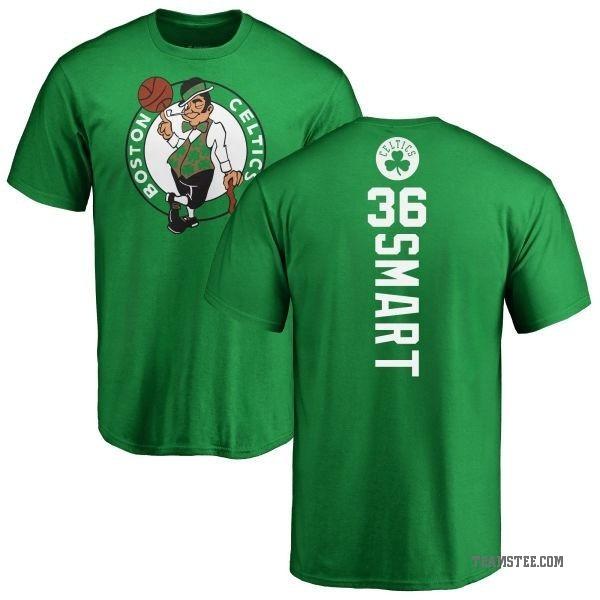 quality design 108b6 a9fc3 Men's Marcus Smart Boston Celtics Kelly Green Backer T-Shirt - Teams Tee