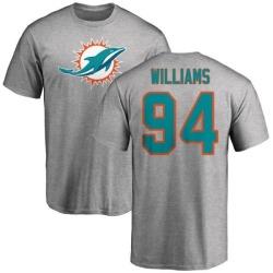 Men's Mario Williams Miami Dolphins Name & Number Logo T-Shirt - Ash