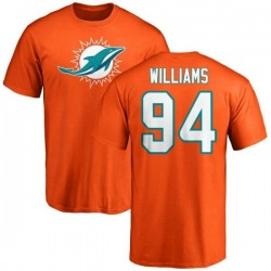 Men's Mario Williams Miami Dolphins Name & Number Logo T-Shirt - Orange