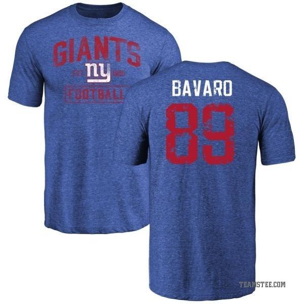promo code d874e a7d99 Men's Mark Bavaro New York Giants Distressed Name & Number Tri-Blend  T-Shirt - Royal - Teams Tee