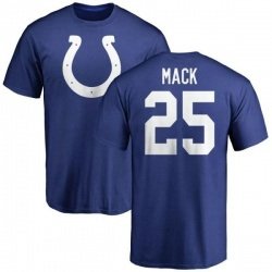 Men's Marlon Mack Indianapolis Colts Name & Number Logo T-Shirt - Royal