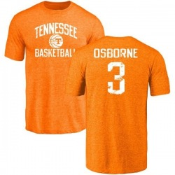 Men's Marquill Osborne Tennessee Volunteers Distressed Basketball Tri-Blend T-Shirt - Tennessee Orange