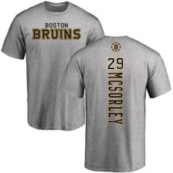 Men's Marty Mcsorley Boston Bruins Backer T-Shirt - Ash