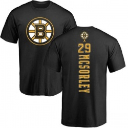 Men's Marty Mcsorley Boston Bruins Backer T-Shirt - Black