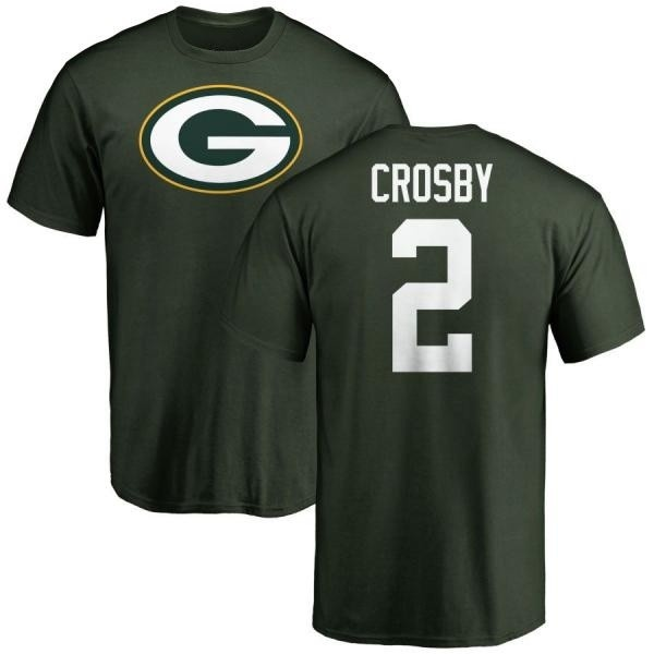 watch 330fd bb64d Men's Mason Crosby Green Bay Packers Name & Number Logo T-Shirt - Green -  Teams Tee