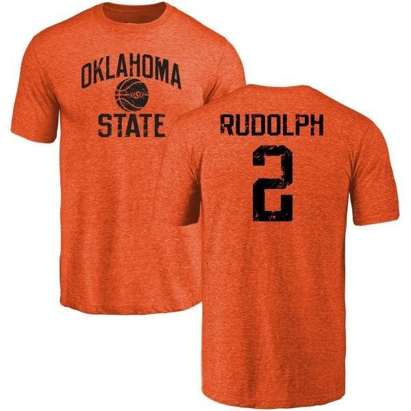 the latest 16def f9862 Men's Mason Rudolph Oklahoma State Cowboys Basketball Tri-Blend T-Shirt -  Orange - Teams Tee